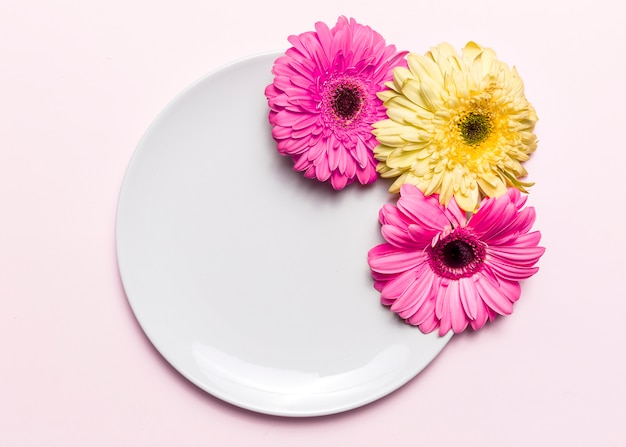 Flowers and plate