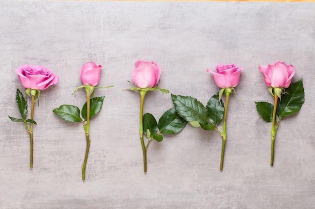 花のバレンタインの日の構成。