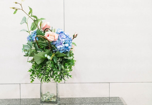Flowers in vase home decoration
