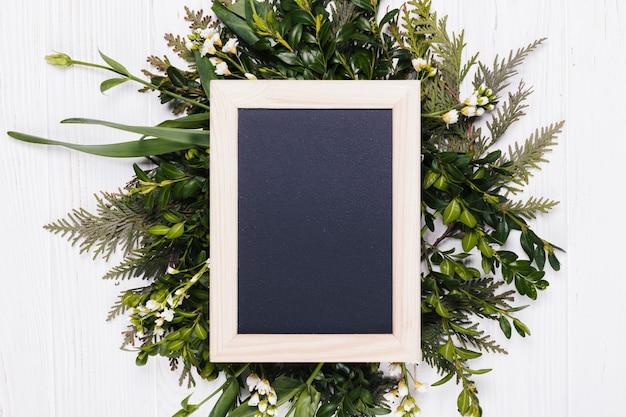 Flowers with a blackboard