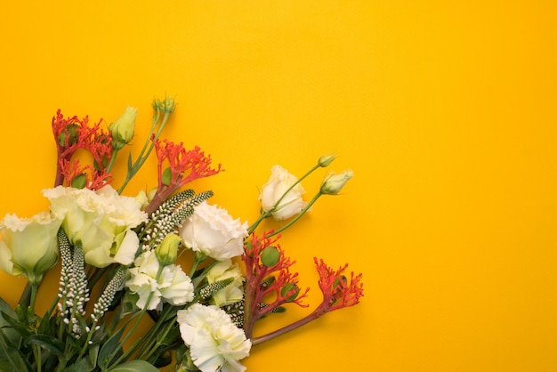 Flowers on a yellow background