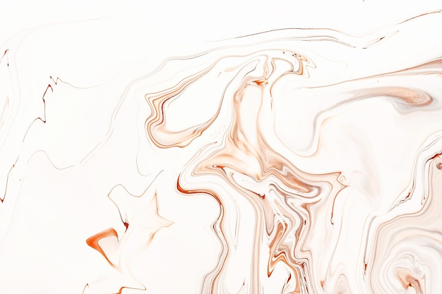 Flowing caramel raster background abstract brown and white mixed colors