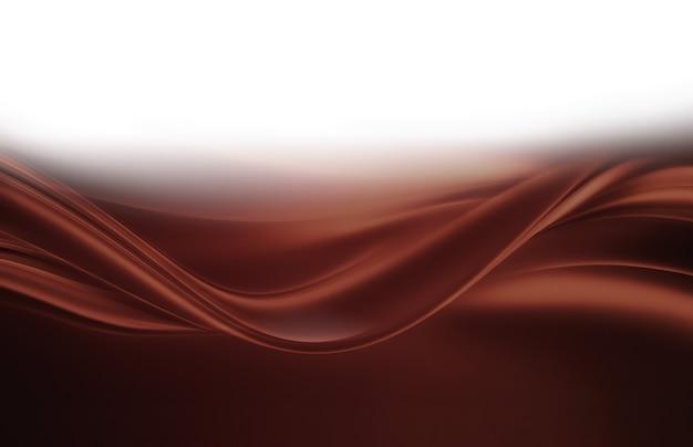 Плавные волны жидкого шоколада как фон