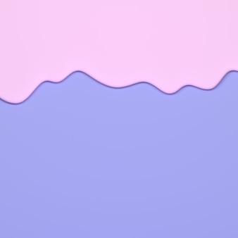 Течет розовая жидкость на синей поверхности