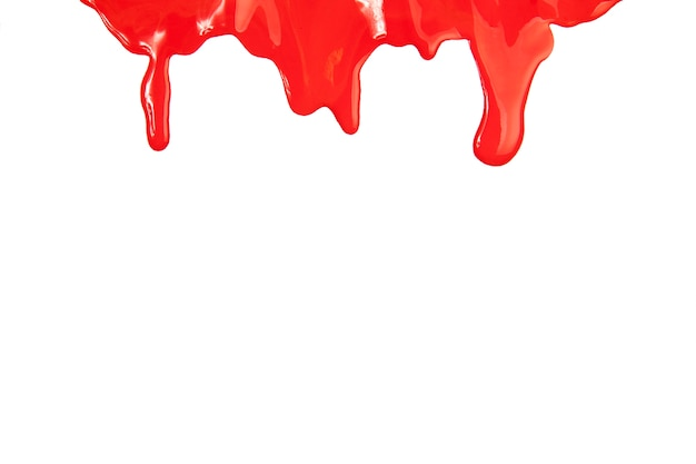 Flowing red paint
