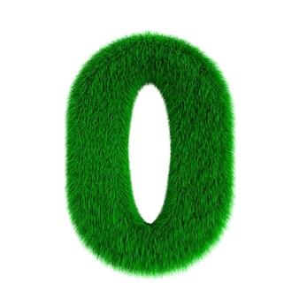 白地にふわふわの数字ゼロ。分離された3dイラスト