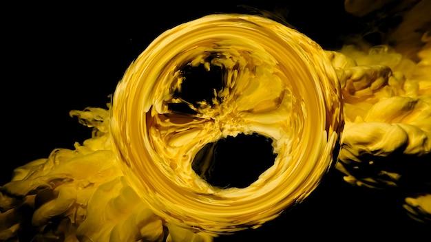 水ミックスの流体アート抽象的な背景色インク