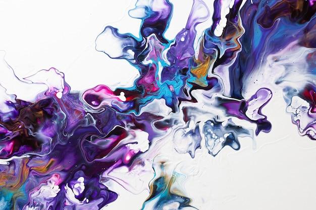 Абстрактный фон жидкого искусства. текстура красочной жидкой краски