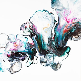 Абстрактная композиция жидкости искусства на белом фоне