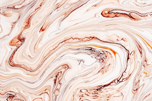 Жидкая художественная текстура. абстрактный фон с закрученным эффектом краски. картина жидким акрилом с потоками