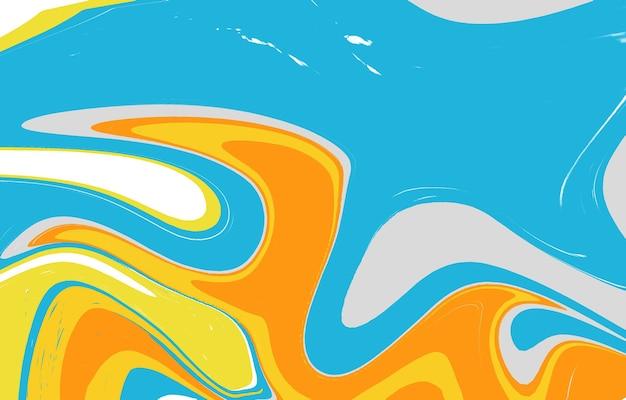 Жидкий цвет модный фон креативные формы композиция мраморная текстура всплеск краски красочный