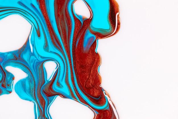 流体ペイントの背景、液体アクリル絵の具のテクスチャ