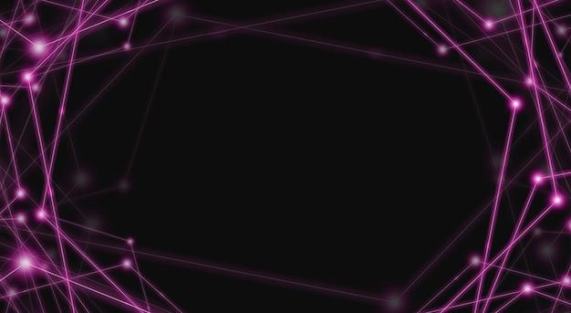 黒の蛍光レーザー光直線パターン