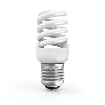 Люминесцентная лампа на белом