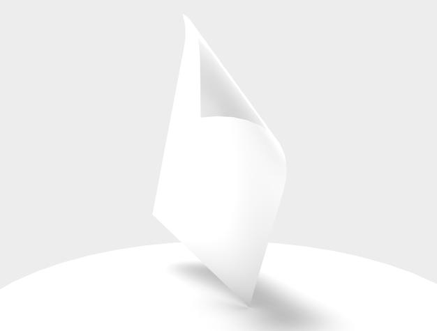Страница флаера плаката баннер страница макет изолированного объекта