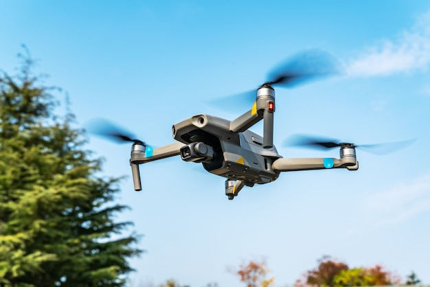 Flying drones in the park