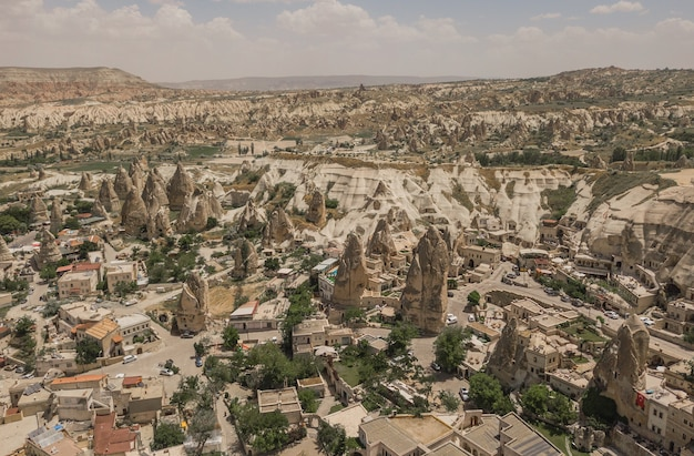 Flying above goreme. it is famous touristic place in turkey