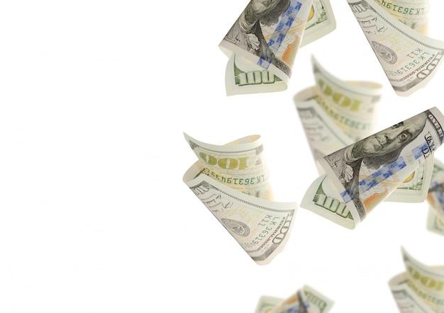 Flying one hundred dollar bills