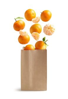 Летающие мандарины, бумажный пакет, пригодный для вторичной переработки