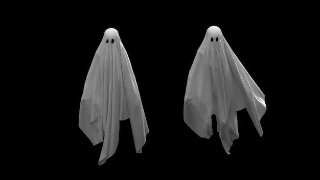 Flying white ghost set