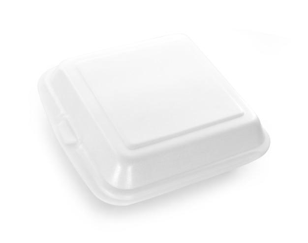 白い背景で隔離の泡ボックス