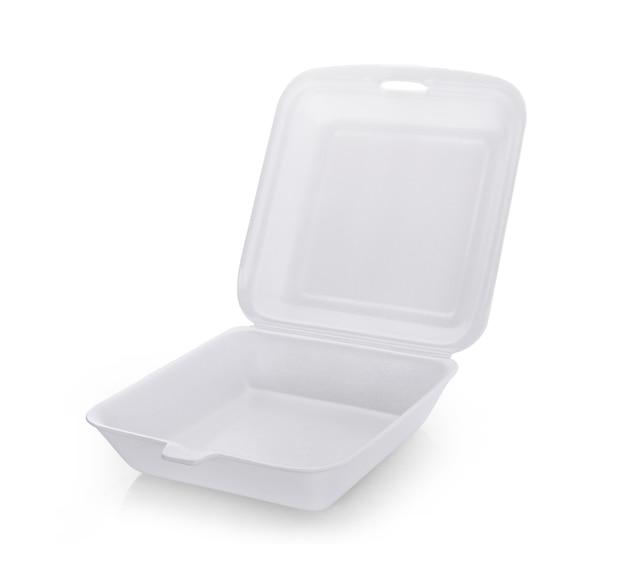 Foam box isolated on white background