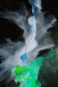Foamy sprays of color shape the space and sea of these freeflowing textures