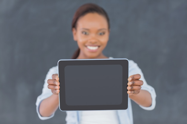 Focus on a tablet computer