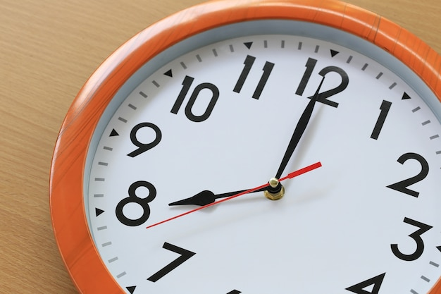 Focus time in clock of eight o'clock for the design in your business concept.