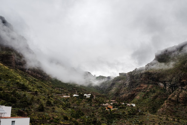 Fog invading the masca valley