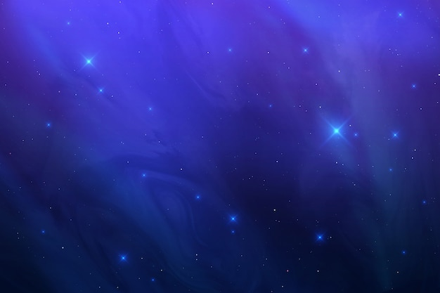 Fogy night scape with stars.
