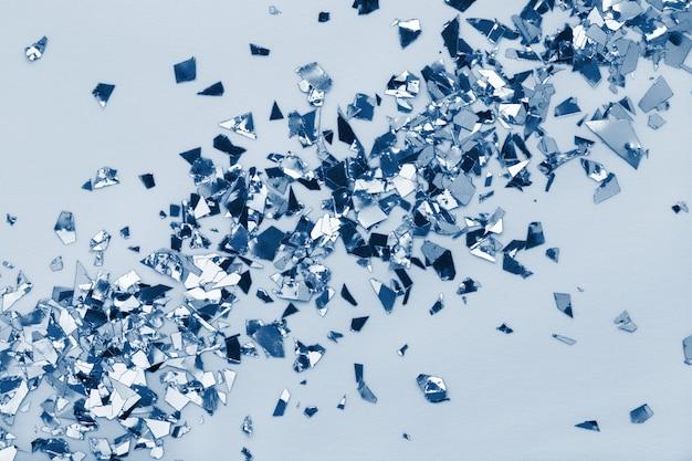 Foil confetti glitter in classic blue color year 2020