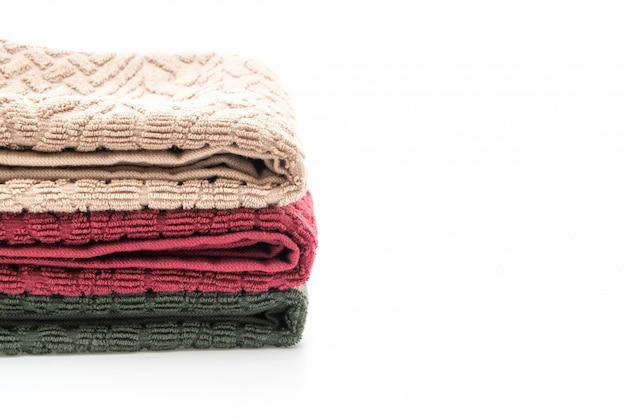 Folded bath towels isolated
