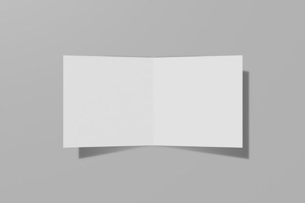 회색 배경에 접힌 소책자