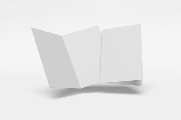 흰색 배경에 접힌 소책자