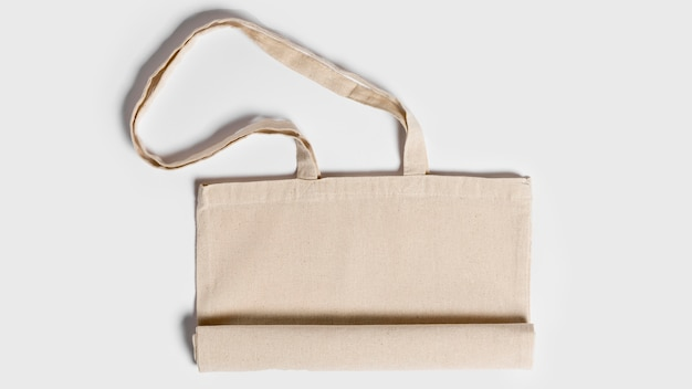 Folded copy space fabric tote bag