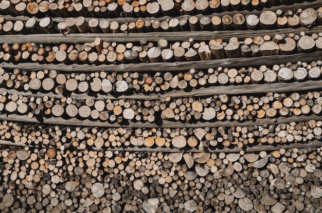 Folded firewood background
