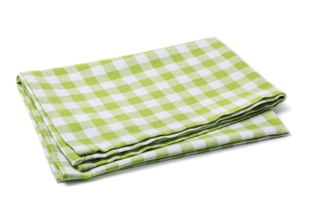 Folded napkin isolated on a white surface