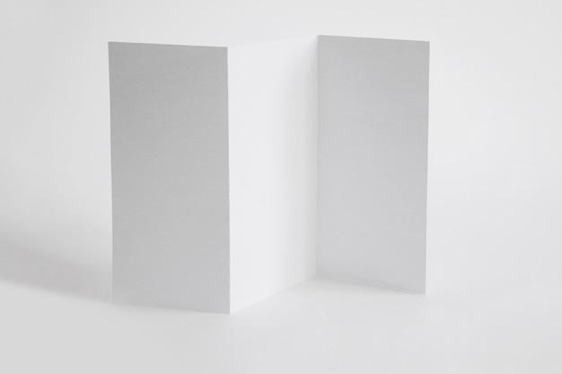 Folded paper mock up Free Photo