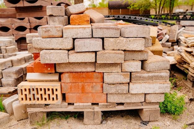 Folded paving slabs paving stones and bricks construction repair