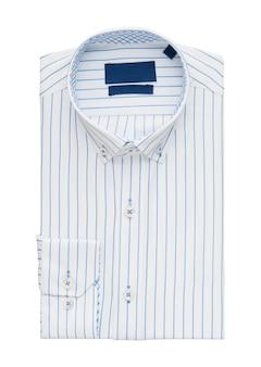 Сложенная рубашка на белом фоне, вид сверху