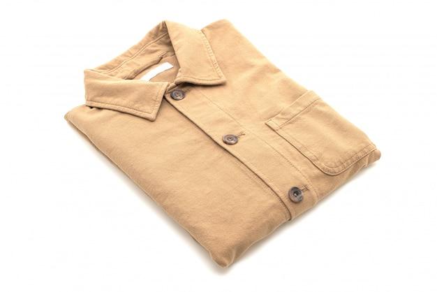 Folded shirt on white