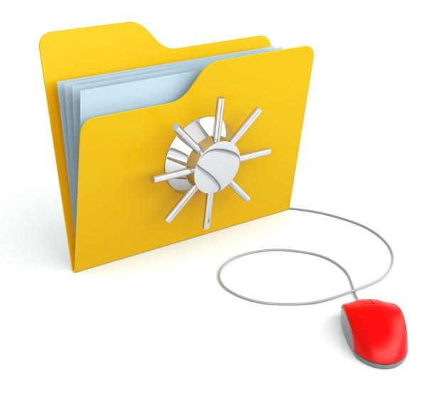 컴퓨터 마우스로 보안 보호 폴더