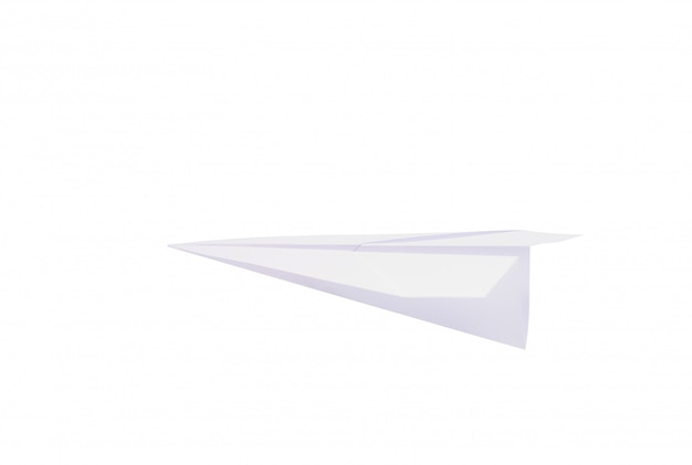 Folding paper rocket against a white wall
