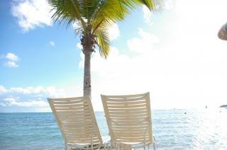 ビーチでfoldingchairs