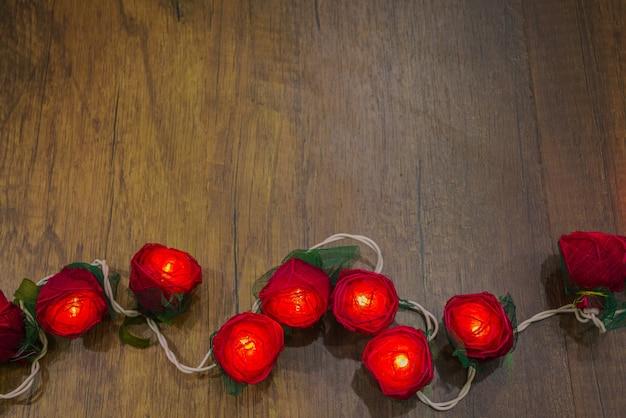 주름 녹색 장식 꽃 질감