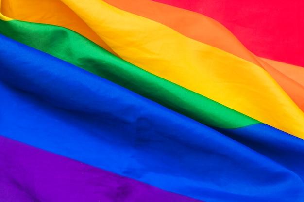 虹色の旗の襞