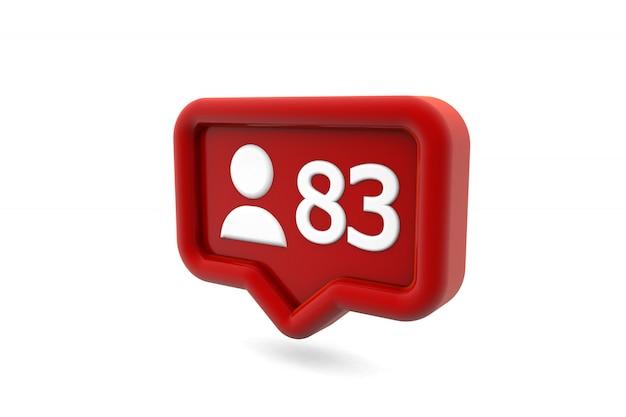 Followers social media notification