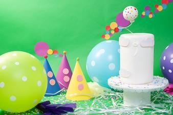 Fondant cake confetti
