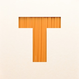 Font design, abstract alphabet font with wood texture, realistic wood typography - t
